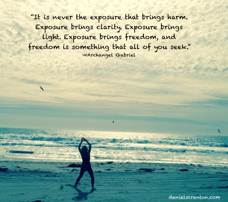 hot woman at the beach ocean archangel gabriel quote