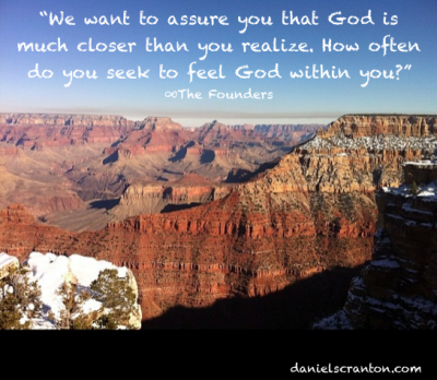grand canyon quote the founders you are god daniel scranton danielscranton.com