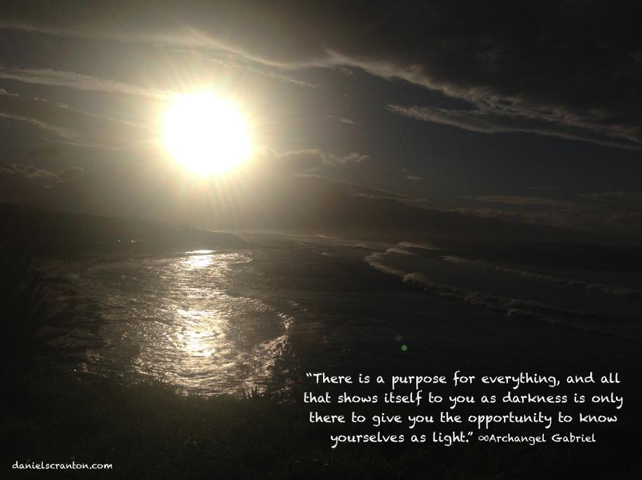 maui sunset archangel gabriel quote angels daniel scranton danielscranton.com