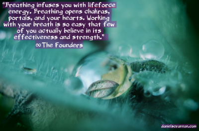 the founders quote channeled by daniel scranton close up flower grass