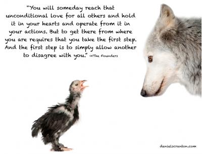 wolf duck spiritual quote end all war daniel scranton danielscranton.com