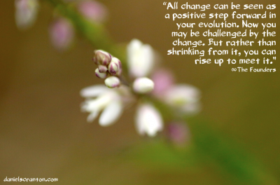 flower up close quote on change from the founders channeled by daniel scranton