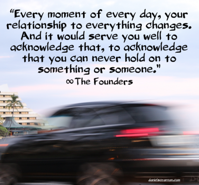 moving car let go ownership quote the founders channeled by daniel scranton