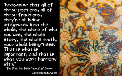 Fractions of Your Whole Self ∞The Pleiadian High Council of