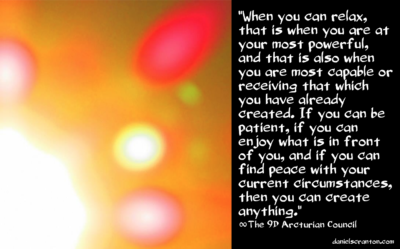 Contentment Amp Creation The 9th Dimensional Arcturian