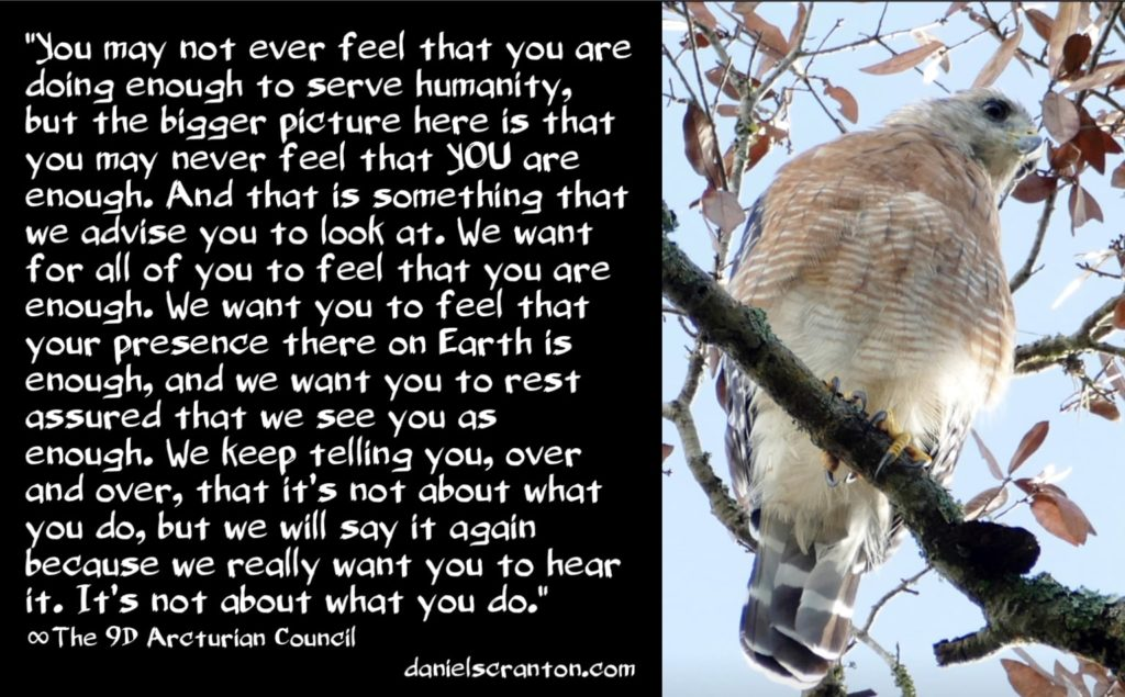 How Much is Enough? ∞The 9D Arcturian Council, Channeled by Daniel Scranton, channeler of arcturians, pleiadians, hathors, zetas, and other e.t. beings