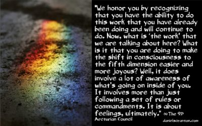 the work of shifting your consciousness - the 9th dimensional arcturian council - channeled by daniel scranton channeler
