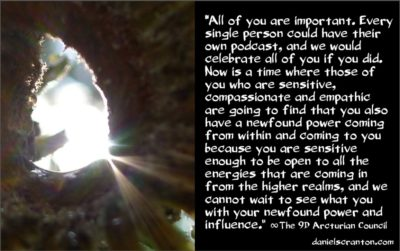 a shift in who holds the power is coming - the 9th dimensional arcturian council - channeled by daniel scranton channeler of archangel michael