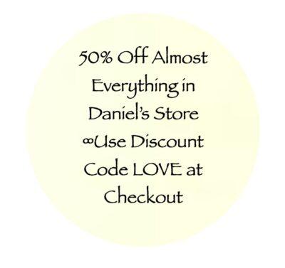 50 percent sale - shop my store - daniel scranton channeler