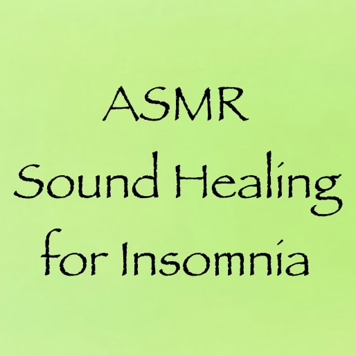 ASMR sound healing for insomnia