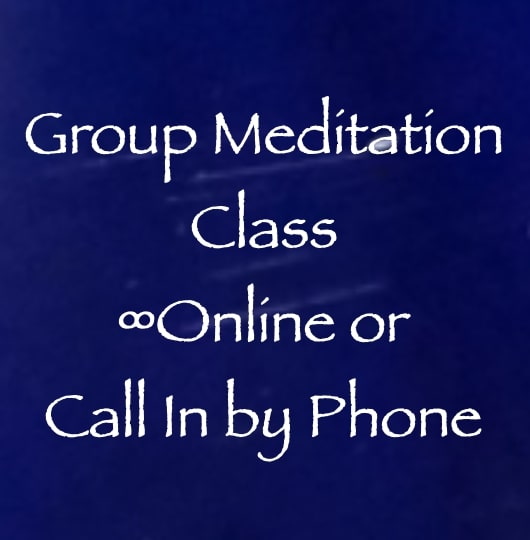 group meditation class - online or call in by phone - with daniel scranton