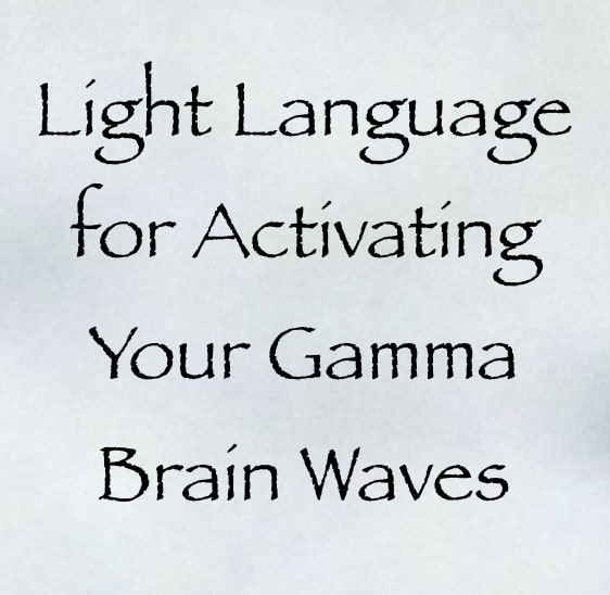 light language for activating your gamma brain waves
