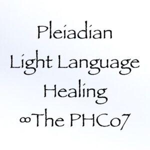 pleiadian light language healing - the phco7