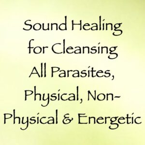 sound healing for cleansing all parasites, physical, non-physical & energetic - channeled by daniel scranton