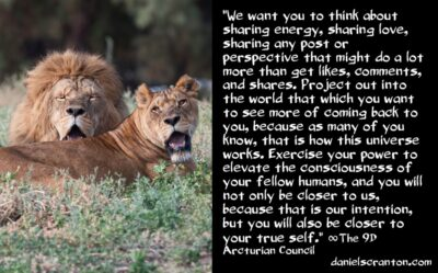 your power as an influencer - the 9th dimensional arcturian council - channeled by daniel scranton channeler of archangel michael