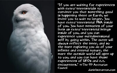 E.T. encounters, UFOs & Non-Interference - the 9th dimensional arcturian council - channeled by daniel scranton - channeler of archangel michael