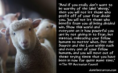 how to avoid being worthy of the label sheep - the 9th dimensional arcturian council - channeled by daniel scranton channeler of archangels