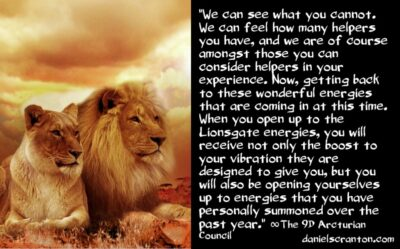 what you need to know about the lionsgate - the 9th dimensional arcturian council - channeled by daniel scranton channeler of archangel michael