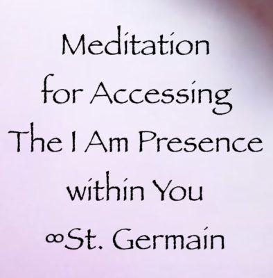 Guided meditation from Saint Germain channeled by daniel scranton
